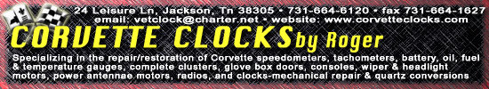 Corvette Clocks by Roger
